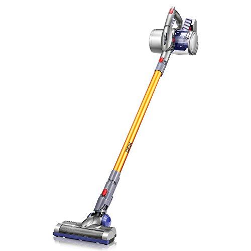 Cordless Vacuum, Deik 2 in 1 Vacuum Cleaner, Cordless Stick Handheld Vacuum with Detachable Longer-lasting Battery & Wall-Mount