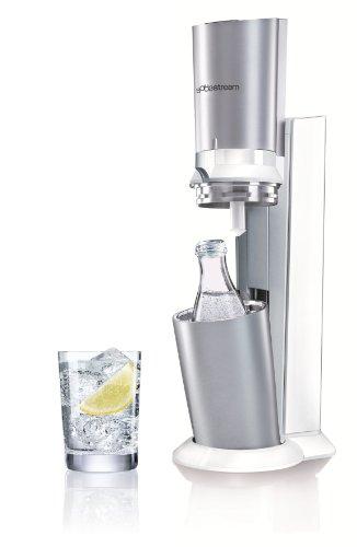 SodaStream Wassersprudler Crystal (mit 1 x CO2-Zylinder 60L und 1 x 0,6L Glaskaraffe), Premium-weiß