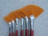Glazing Brushes Fan Shape 6/set