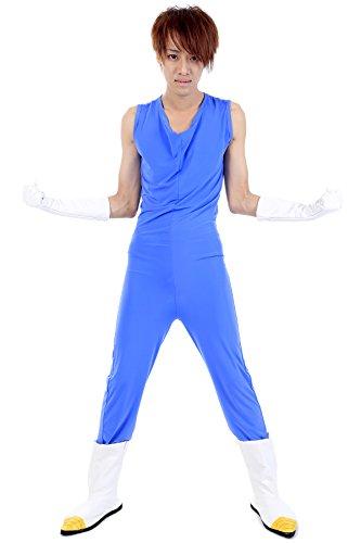Saiyan Suit Costume (De-Cos Dragon Ball Z Prince of All Saiyans Vegeta Fighting Uniform V2 Set)