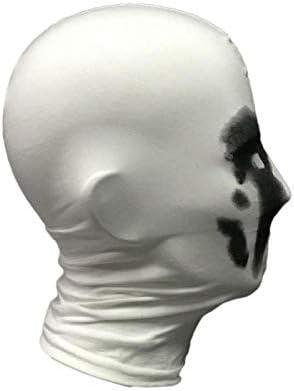 Rorschach Mask Print Inkblot Watchman Balaclava Cosplay Costume Hood Mask White