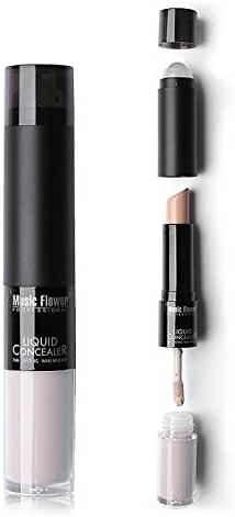 Ucanbe Double Feature Concealer Highlighter - Full Cover Creamy Concealer Stick and Liquid Foundation Concealer with Ball Applicator (fair)