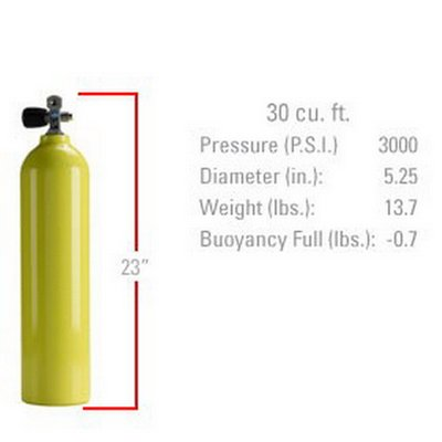 Sherwood 30 cu ft. Yellow Aluminum Pony Bottle by Sherwood