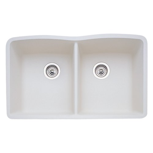 Blanco BL440186 Diamond Equal Double Bowl, (E-granite Double Bowl Undermount Sink)