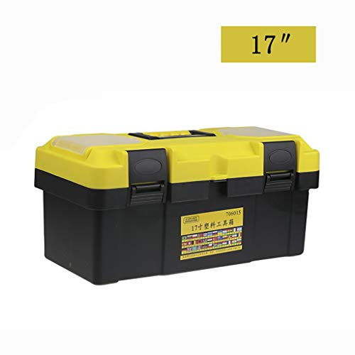 17 Cantilever Tool Box - ZSHLZG Toolbox Multi-Function Plastic Box Household car Classification Storage Box Double 12/14/17/19 inch (Size : 37.51720cm)