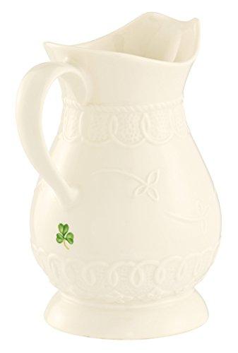 Belleek 4232 Celtic Lace Pitcher, 20 Fluid Ounce, White