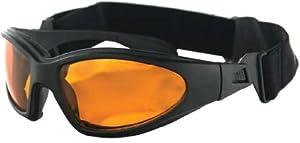 Bobster GXR Sunglass-Goggles - Black w/ Amber