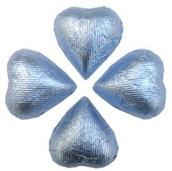 Chocolate Hearts - Pastel Blue (2.5 lb bag)
