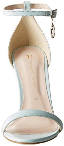 Scarpe Cinturino Jeans Acqua Minimal Caviglia Evening Donna Trussardi alla con Tacco Marine Turchese col 1HqpSnt