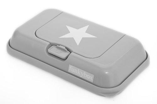 Feuchttüchter-Aufbewahrungsbox für unterwegs Funkybox ToGo - grau mit Stern