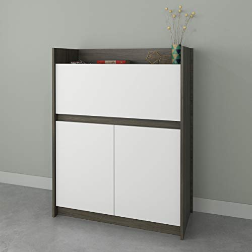 Nexera Chrono 351648, Bark Grey & White Secretary Desk, ()