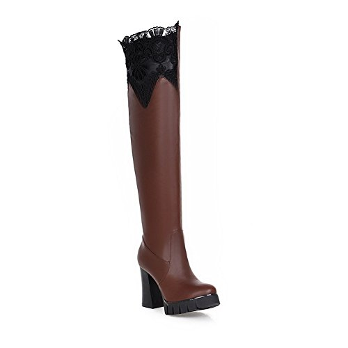 Boots Hard Lining High Ground 1TO9 Ground No MNS02320 Boots Ruched Waterproof Urethane Manmade Brown Womens Closed Warm Firm Toe Toe Manmade Closure Pointed Heel wYO1pOFv