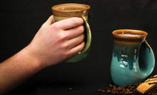 Clay in Motion Handwarmer Mug (14 Ounce Right, Island Oasis)