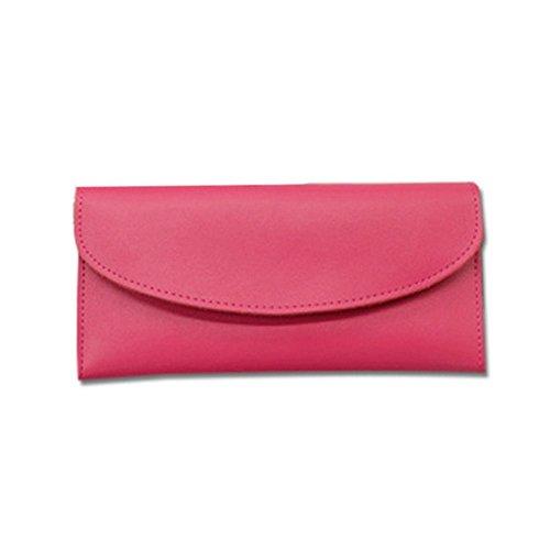 Eysee - Cartera de mano para mujer Amarillo rojo vino 19cm*11cm*2cm. rosa (b)