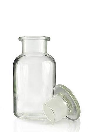 5 x frascos de farmacia 100 ml – Color: Borrar – Incluye tapón de cristal