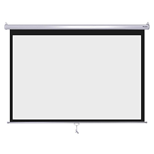 """Instahibit 100inches Diagonal 16:9 Manual Pull Down Projection Screen Self-Locking 87"""" x 49"""" White"""