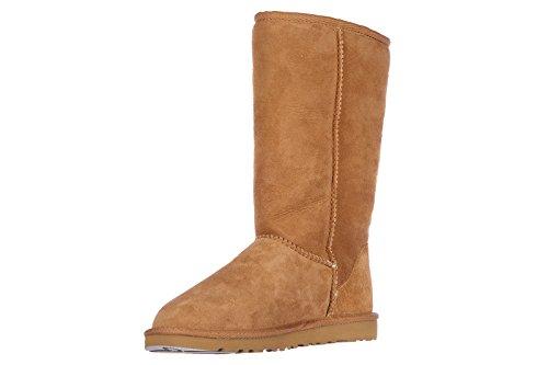 Boots Ugg Chesnut Stiefel Damen W Tall Classic Braun Wildleder q7nftxTrw7