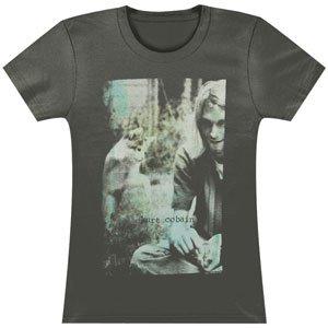 Juniors T-Shirt -Kurt Cobain - Sepia Photo