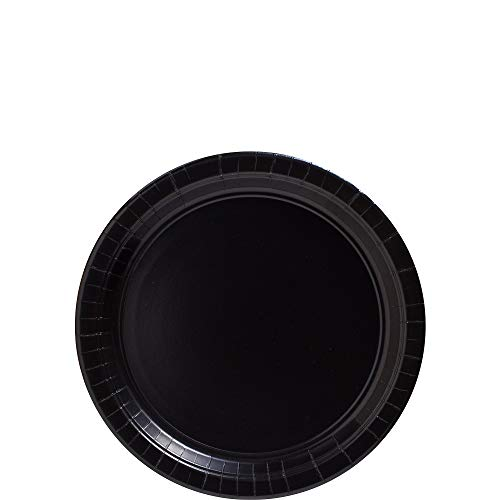 (amscan Big Party Pack Jet Black Paper Plates | 7