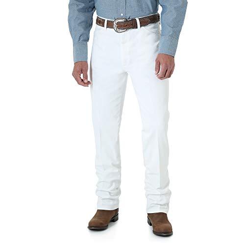 - Wrangler Men's Cowboy Cut Slim Fit Jean, White, 32W x 34L