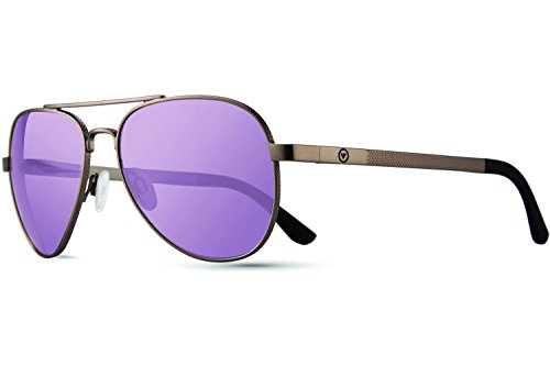 Revo Zifi Sunglasses, Gunmetal Frame, Custom Lavender 58mm Lenses, part of the Vision Over Visibility - Frames Revo