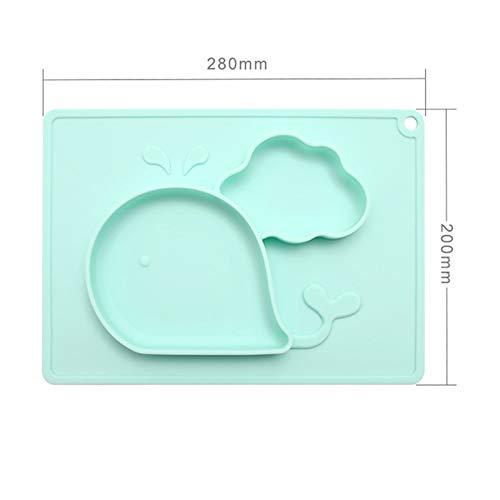 Happyshop 18 platos de silicona para bebé, platos de silicona ...