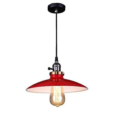 buy popular 6f611 f0461 Black Pendant Light For Kitchen Island Metal Chandelier Lighting Bedroom  Ceiling Lights Bar Modern Lamp 1pcs Lamp Not With Bulb UNICASA (Red)