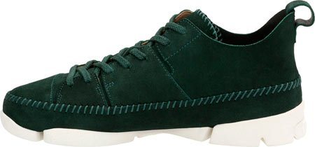 Suede Men's Dark CLARKS Flex Sneakers Green Suede Trigenic 0F60qwd8Z