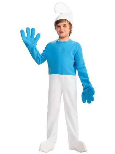 The Smurfs - Smurf Deluxe Child Costume Size 8-10 Medium(B1335) -