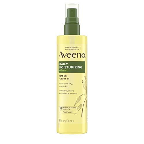 Aveeno Daily Moisturizing Dry Body Oil Mist with Oat and Jojoba Oil for Dry, Rough Sensitive Skin, Nourishing…
