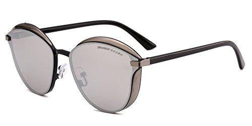 DRAGON CHARM 2017New women metal sunglasses Women Reflective Lens glasses - Charm Sunglasses Charm &