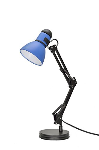 -3 1-Light Swing Arm Task Lamp with Metal Lamp Shade and Rotary SwitcH, Modern Design, 17