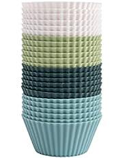 The Silicone Kitchen Reusable Silicone Baking Cups   Non-Toxic   BPA Free   Dishwasher Safe