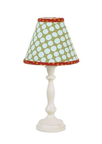 Cotton Tale Designs Lagoon Standard Lamp and Shade, Turquoise/Orange/Green (Orange Lamp Standard)