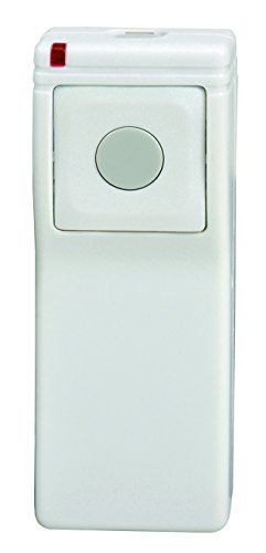 Linear DXS-21 Supervised 2-Button, 1-Channel Handheld Transmitter, White with Green Button