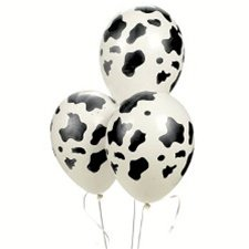 Lot of 25 Latex Western Cow Print Party Balloons (Cow Girl Party Decorations)