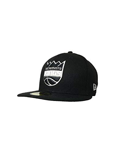 New Era Sacramento Kings Hat, Cap 59Fifty Fitted Triple THR 21186594 Black