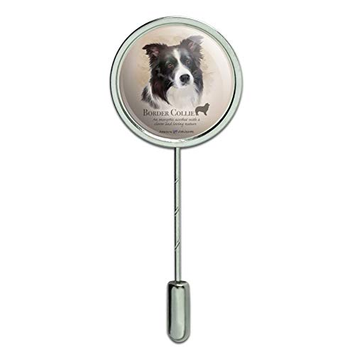GRAPHICS & MORE Border Collie Dog Breed Stick Pin Stickpin Hat Brooch