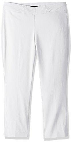 Napa Valley Women's Petite Size Super Stretch Pull On Slim Leg Capri, White, 16P (Harbor For White Sag Pants Women)