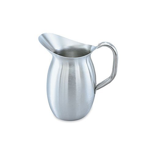 - Vollrath 82040 Satin Finish S/S 4.13 Quart Bell-Shaped Pitcher