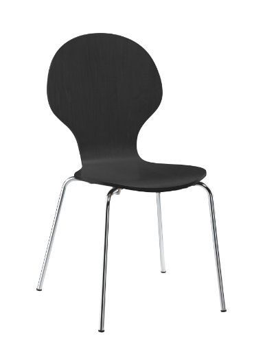 DHP Shell Bentwood Chairs Black
