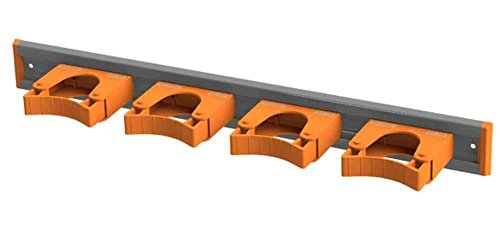 Toolflex Aluminum Rail 50cm (20 inch) with 4 Mounted Tool Holders Orange 5-0040-0