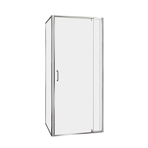 - DreamLine Flex 32 in. x 32 in. Semi-Frameless Pivot Shower Enclosure in Chrome with Corner Drain White Base Kit, DL-6714-01CL