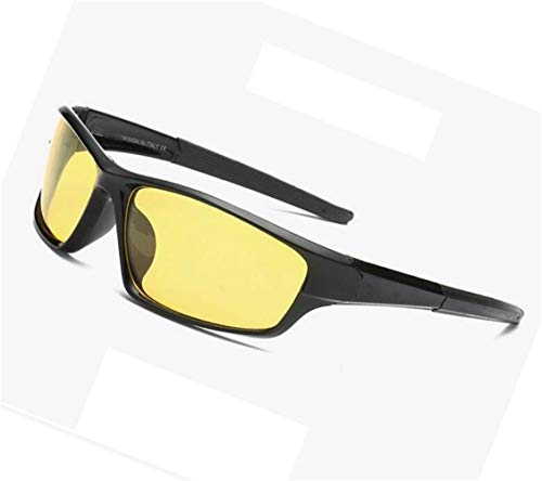 Gafas nocturna el la hombres Gafas de los al Yellow aire polarizadas la visión de Gafas manera ciclismo para UV400 protectoras para Gafas viajar de amarilla libre UZwax5Xx