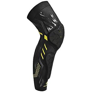 d11589b6b7 Kuangmi Basketball Knee Pad Protective Knee Brace Compression Leg Sleeve  Shin Guard Kneepad (Black-Single, L)
