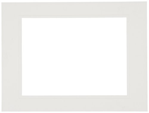 Sax Pre-Cut Show Off Mats, 9 x 12 Inches, White, Pack of 12