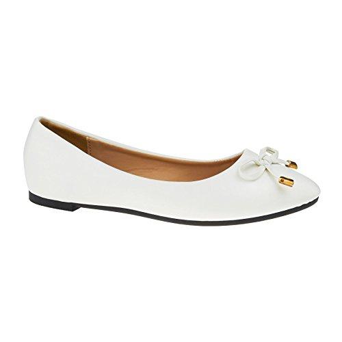 London Footwear - Ballet mujer blanco