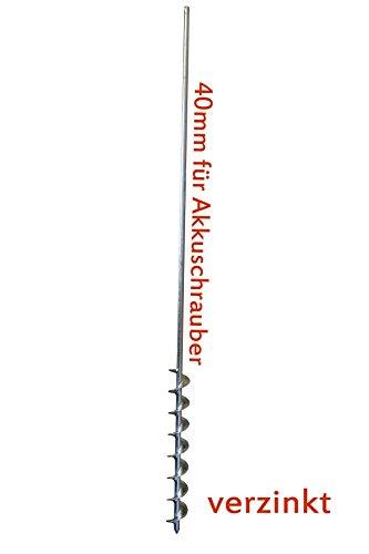 Erdbohrer 40mm für Akkuschrauber