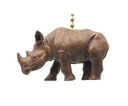 African Safari Rhino Rhinoceros Ceiling Fan Light Pull