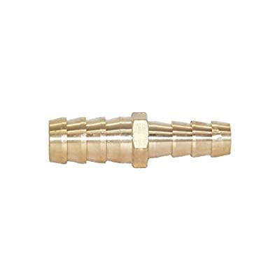 """Joywayus 1/4"""" to 5/16"""" Reducer ID Hose Barb Splicer, Hex Union Brass Fitting Water/Fuel/Air"""